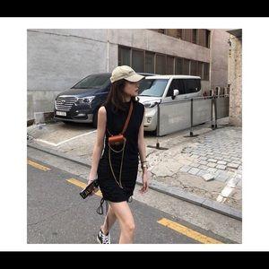 Dresses & Skirts - Black sleeveless mini dress